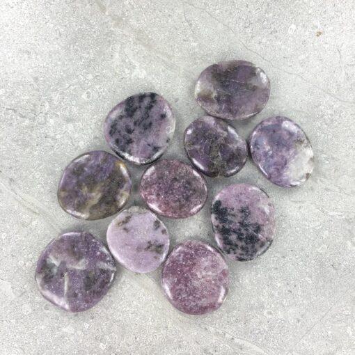 Lepidolite | Smooth Stone | Sacred Earth Crystals | Wholesale Crystal Shop | Brisbane | Australia