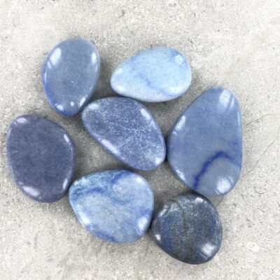 Blue Quartz | Smooth Stones | Sacred Earth Crystals | Wholesale Crystal Shop | Brisbane | Australia