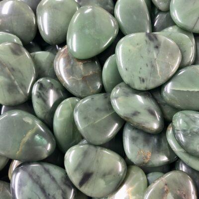 Green Prasem | Smooth Stone | Sacred Earth Crystals | Wholesale Crystal Shop | Brisbane | Australia