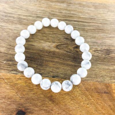 White Howlite | Bracelet | Sacred Earth Crystals | Wholesale Crystals | Brisbane | Australia