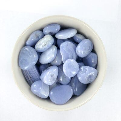 Blue Lace Agate | Tumble | Sacred Earth Crystals | Wholesale Crystals | Brisbane | Australia