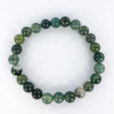 Moss Agate   8mm Bracelet   Sacred Earth Crystals   Wholesale Crystals   Brisbane   Australia